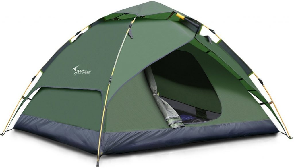 Sportneer Camping Tent 3-4 Person Automatic Instant Pop Up Waterproof Camping Hiking Travel Beach Tents For Family Groups