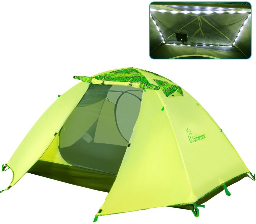 WolfWise 2 Person 3-4 Season Lightweight Backpacking Tent Waterproof Family Camping Hiking Tent