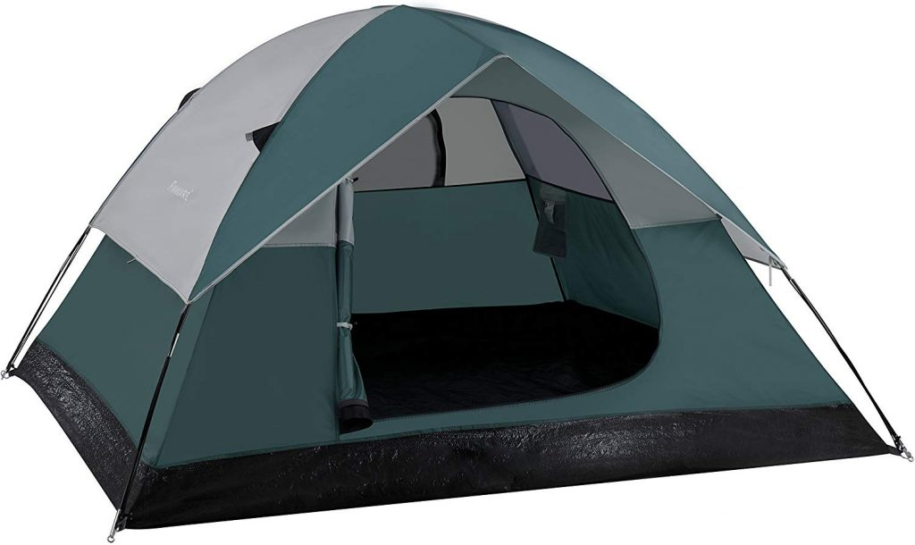 FINNKARE 3-Person 3-Season Lightweight Water Resistant Family Camping Tent with Rain Fly Carry Bag for Outdoor Activity Hiking Climbing Backpacking Scout Fishing Travel Sleeping Rainproof Gray/Green