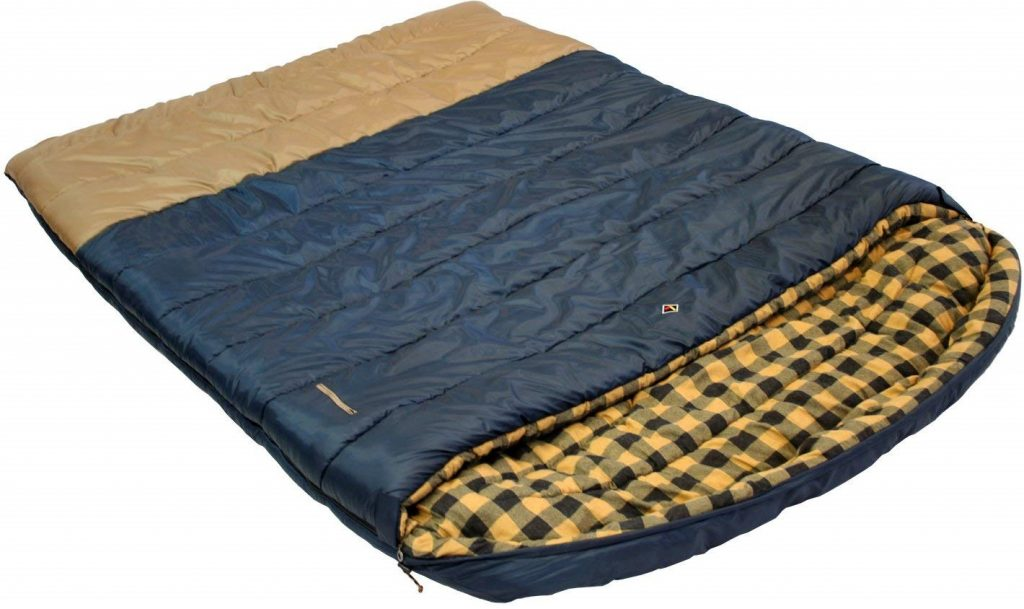 Ledge Sports Alaska +0 F Degree King Size Double Wide Sleeping Bag (96 X 72, Blue)